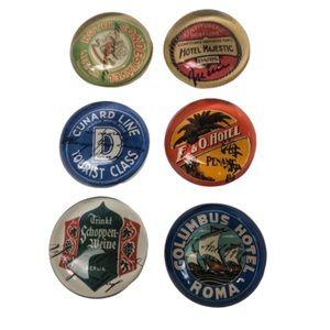 Other - ☃️ 3/$30 Set of 6 Vintage Inspired Fridge Magnets.